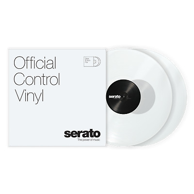 2x Serato Standard Colours Timecode Vinyl Record for DVS DJ (PAIR) - CLEAR 12""
