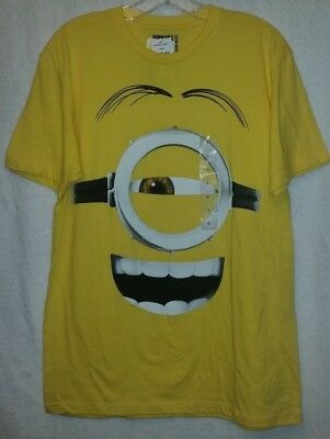 Despicable Me MINIONS ~ GOOGLE SMILE  ~ T-SHIRT top LARGE ~ Official Licensed