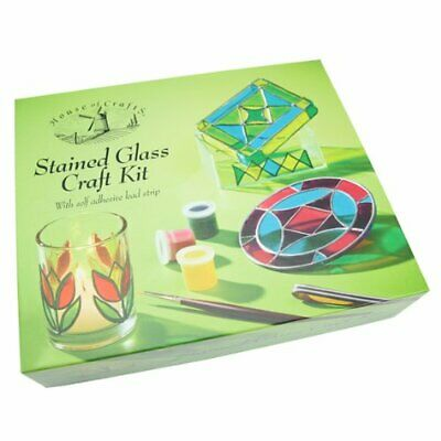 House Of Crafts Creative Stained Glass Painting Craft Kit For Beginners  Hc539
