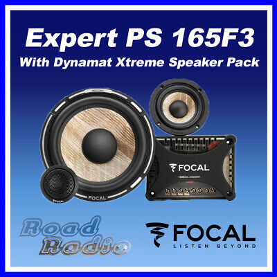 """FOCAL Expert PS165F3 6"""".5 Flax Cone 3 Way Component Speaker Kit With Dynamat"""