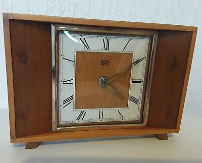Vintage Mid Century Smiths Teak Mantel Bedside Clock (changed to Quartz)