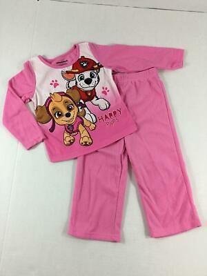 Paw Patrol Pajamas Girls 3T NEW 2 Piece Flannel Skye Marshall Shirt Pants