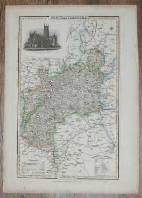 Maps: 1839 Pigot and Co; Map of the County of Gloucestershire