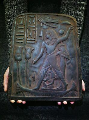 Egyptian Antiques Antiquities Accountant Nebamun Stela Relief 1401-1351 Bc