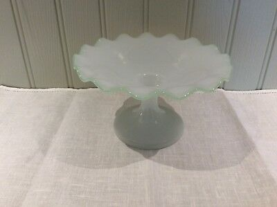 Beautiful Vintage Opaque Glass Cake Stand