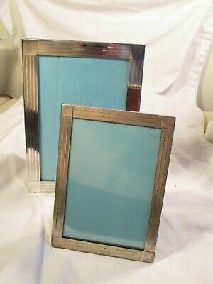 Two Tiffany & Co art deco sterling silver picture frames