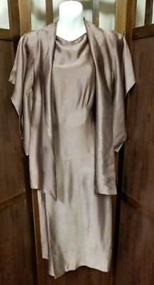 Antique authentic 1920's satin handmade 2 pc evening gown