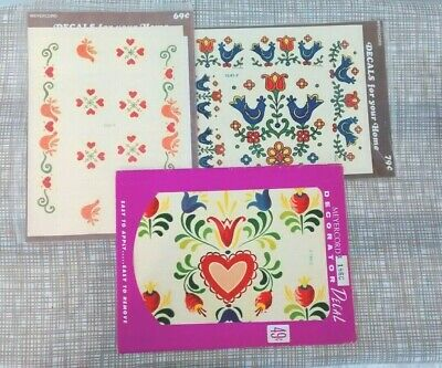 Vintage Meyercord Decals~ 4 Sheets~ Tole Art