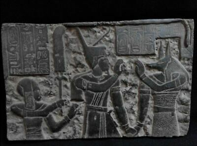 Egyptian Antiques Antiquities Wepwawet Anubis Seti I Stela Relief 1291-1265 Bc
