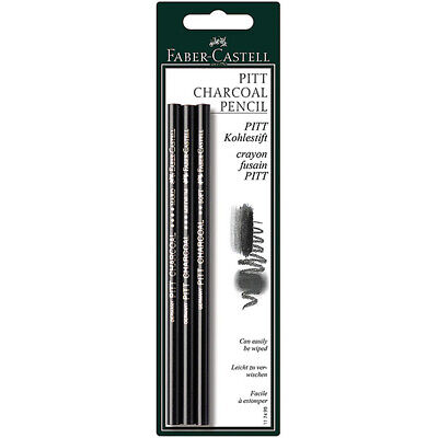 Faber-Castell - Pitt Natural Charcoal Pencils Blister of 3