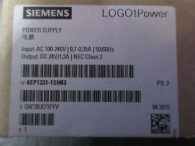 NEW SIEMENS Power Supply 6EP1331-1SH03  Logo! Power