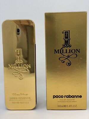1 Million By Paco Rabanne 3.4 oz / 3.3 oz EDT Spray Cologne For Men New In Box