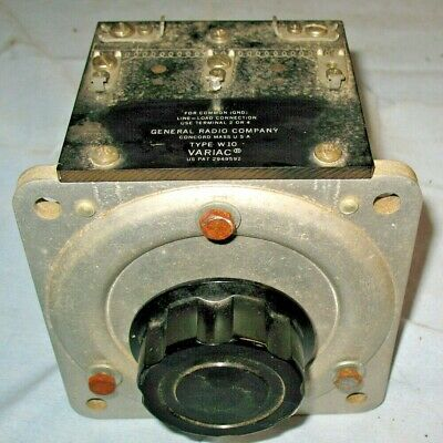 General Radio W10 Variac  10A.  Panel Mount Variable Transformer. Works Well
