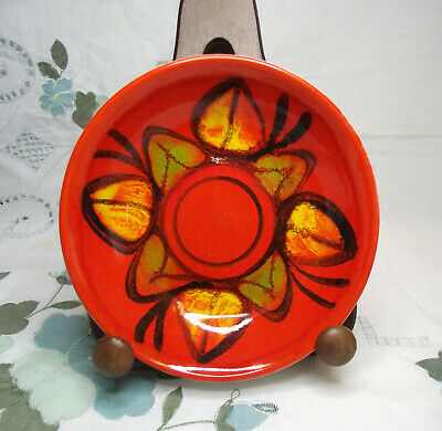 Poole Delphis Retro Orange Small Plate / Dish - Tina Sherratt
