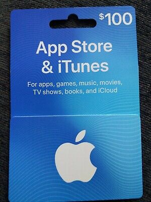 100$ Apple Store and iTunes Gift Card