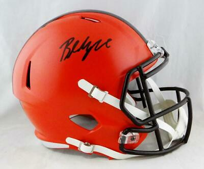 Baker Mayfield Autographed Cleveland Browns Full Size Speed Helmet- Beckett  Auth 399431dbe