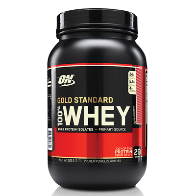 Sale ON Optimum Nutrition 100% Gold Standard Whey Protein 2LB (908g) 29 Servings