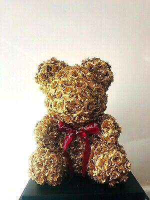 """14 """"Luxury Gold Teddy Bear for Valentine's Day Mother's Day Anniversary gift"""