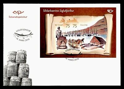 Dr Who 2010 Iceland Fishing Culture S/s Fdc C78835