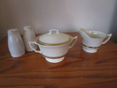 5 Pieces Syracuse Old Ivory Monticello Fine China Gold Rim
