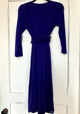 Isabella Oliver Size 2 Purple Maternity/Nursing Wrap Dress List $149