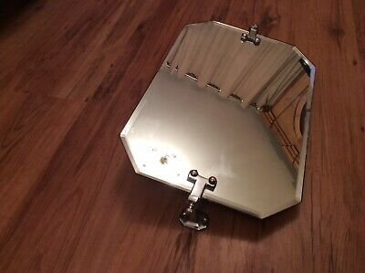 Art Deco Stylish Tilted And Chromed Mirror 21 Ins X12 Ins