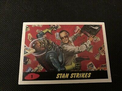 "2013 Comikaze Expo Exclusive Stan Lee No.1 Card Mars Attacks Style ""stan Strikes"