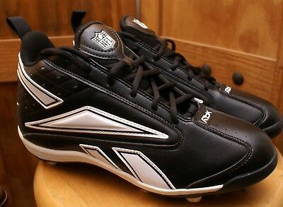 9c3bf63b74412 REEBOK NFL 4 Speed III Mid SD2 Mens Football Cleats Black Carbon NEW ...