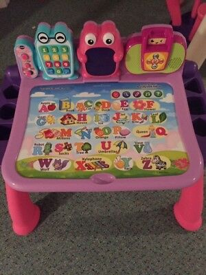VTech Touch and Learn Activity Desk Deluxe, Pink - Lightly Used