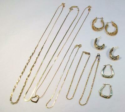 Fine Vtg Estate 14Kt Solid YELLOW GOLD Jewelry Lot - 20.3 grams Not Scrap