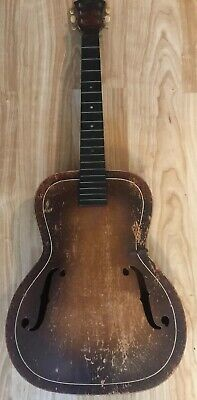 Vintage Rare Superb Archtop Acoustic Guitar for restoration