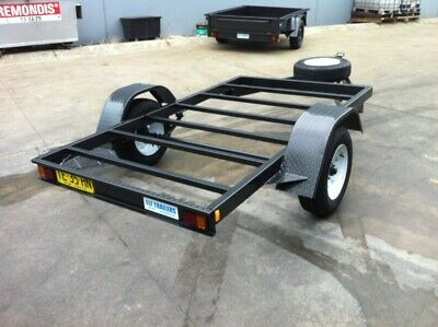 Brand new Flat BED FRAME Trailer single axle 9X5 FT H-DUTY AS IS DIY TEAR DROP