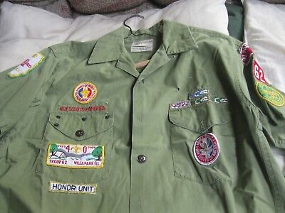Vintage Cub Scout Shirt With Lots Of Patches , Du Page Area Council Illinois