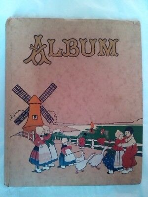 Vintage Original 1930s Art Deco Photo Album Scrapbook with Dutch Scene