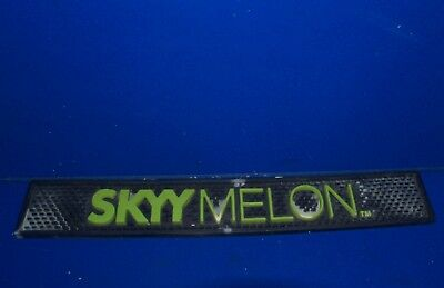 "Skyy Melon Vodka  rubber bar mat blue green  23""x3.5"""