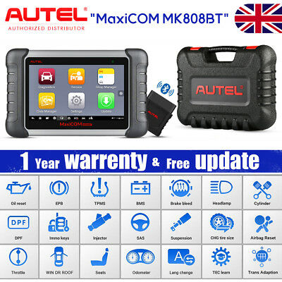 Autel MK808BT Full System Diagnosis Scanner Tool OBD2 Reader ABS SRS SAS EPB DPF