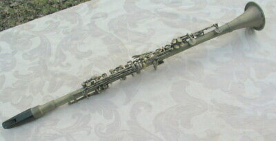 Old Vintage Brass Supertone clarinet for parts