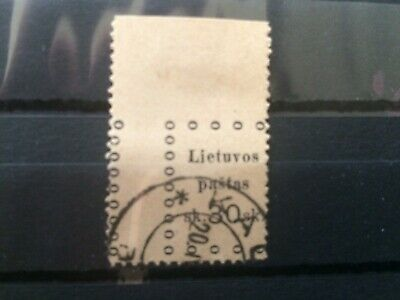 Lithuania - old - missed and no perfin - used
