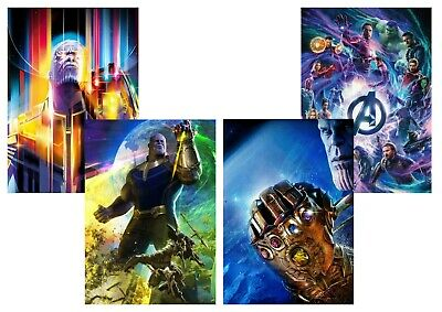Avengers Infinity War-Endgame: Captain America, Thor, A5 A4 A3 Textless Posters