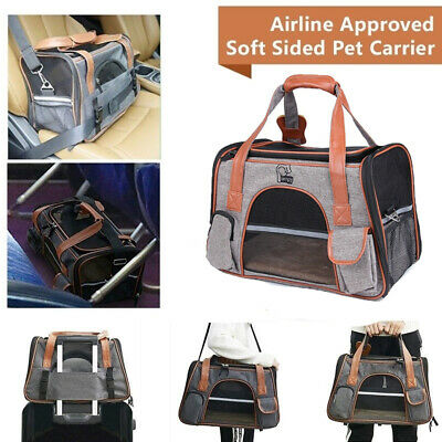 Airline Approved Pet Carrier For S - M Dogs Cats Soft Sided Kennel Travel Bags