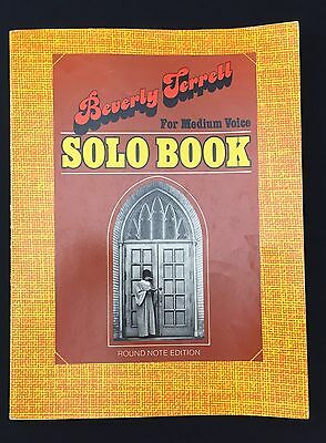 VTG 1970S GOSPEL Song Book Beverly Terrell Solo For Medium Voice Round Note  Ed