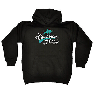 Fishing Kids Childrens Hoodie Hoody Funny - Fishing Cant Stop Fishing