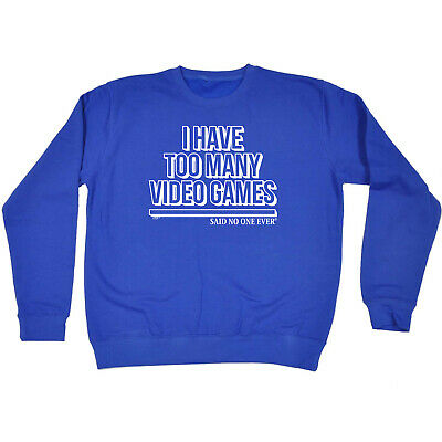 Funny Kids Childrens Sweatshirt Jumper - I Have Too Many Video Games Snoe