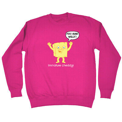 Funny Kids Childrens Sweatshirt Jumper - Immature Chedder
