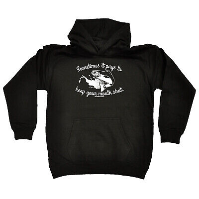 Fishing Kids Childrens Hoodie Hoody Funny - Fishing Sometimes It Pays To Keep Yo