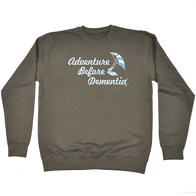 Funny Kids Childrens Sweatshirt Jumper - Kite Surf Adventure Before Dementia