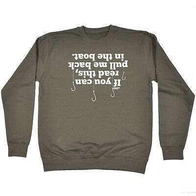 Fishing Childrens Sweatshirt Funny Jumper - If You Can Read This Pull Me Back
