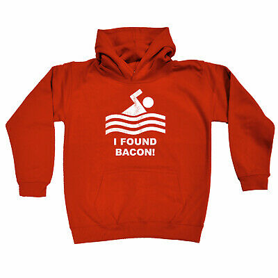 Funny Kids Childrens Hoodie Hoody - I Found Bacon