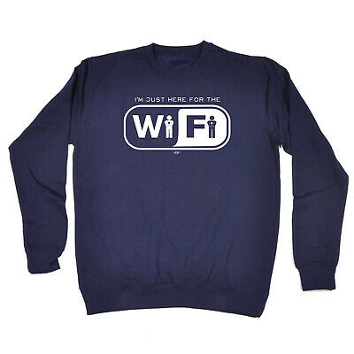 Funny Kids Childrens Sweatshirt Jumper - Im Just Here For The Wifi