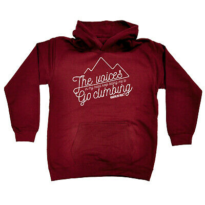 Rock Climbing Kids Childrens Hoodie Hoody Funny - The Voices In My Head Go Rock